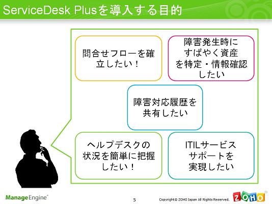 ServiceDesk Plus | 2011年11月17日 情報システム部門、業務改善セミナー ServiceDesk Plusを導入する目的